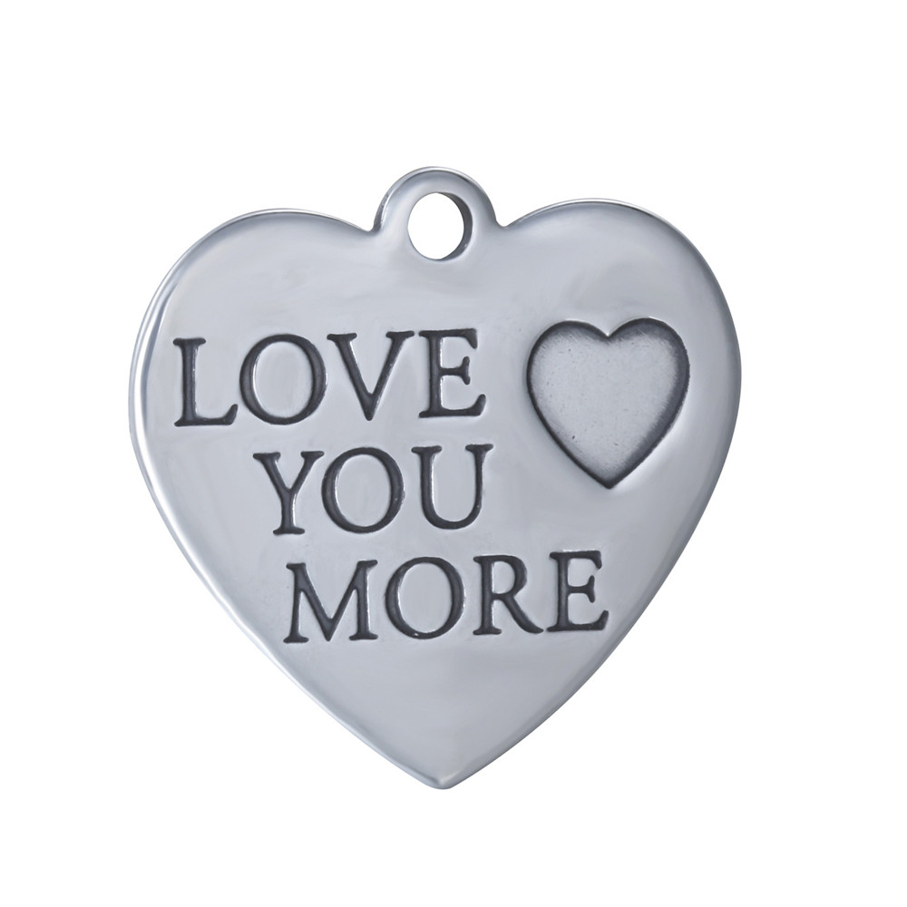 20*20mm Stainless Steel Charm - Love You More
