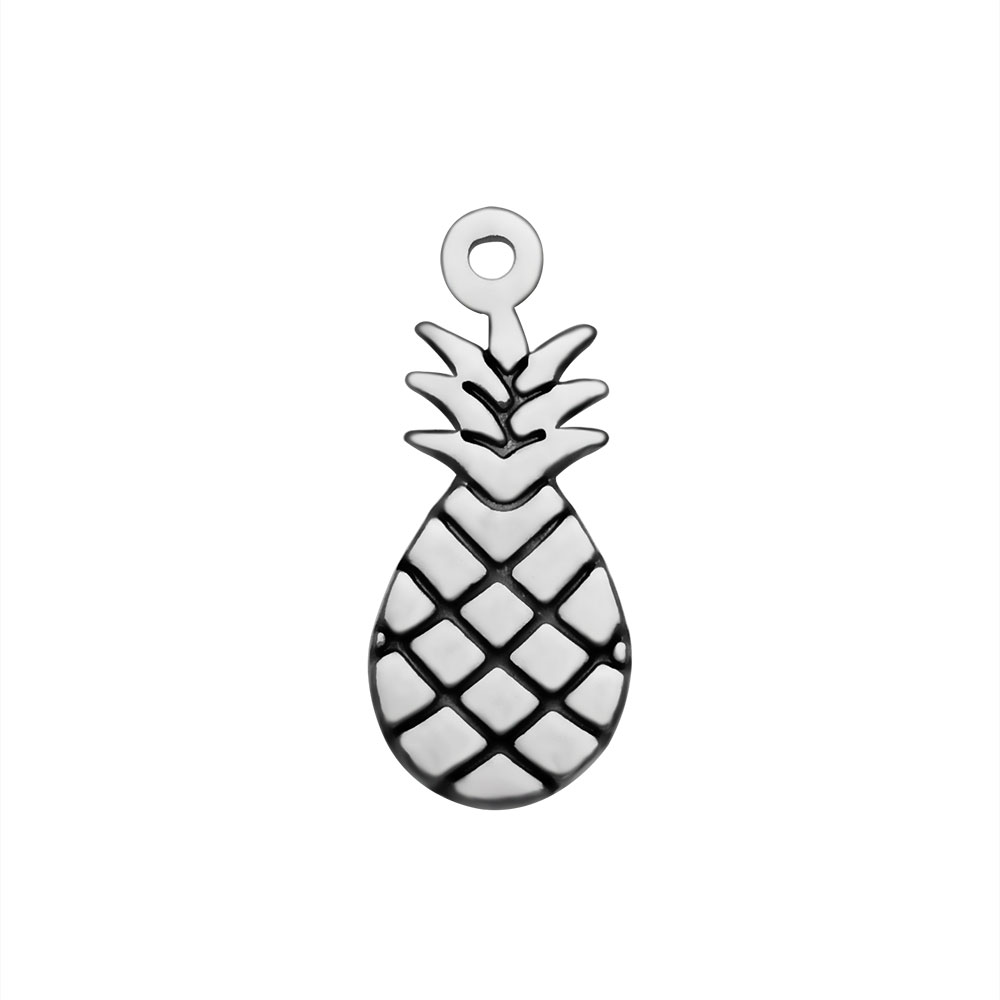 8*18mm Stainless Steel Charm - Pineapple