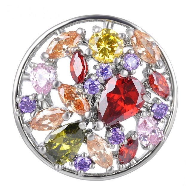 Snap Jewelry Large CZ - Cluster Multi-Color