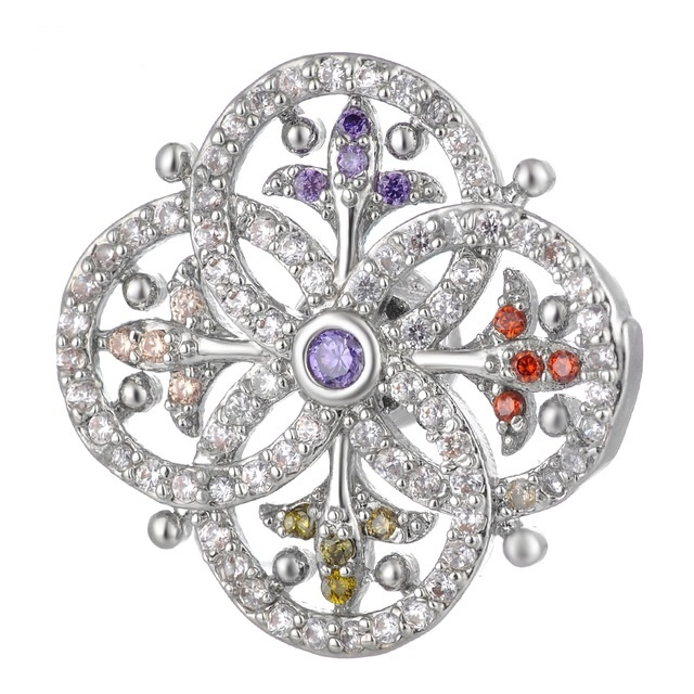 Snap Jewelry Large CZ - Pave Multi Color Eternal Circles