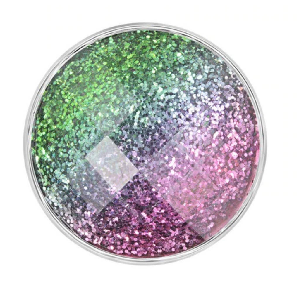Snap Jewelry 18-20mm Glitter Purple Blue & Green