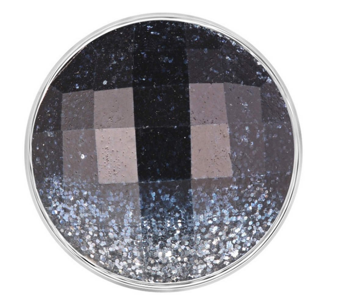 Snap Jewelry 18-20mm Glitter Black & Gray