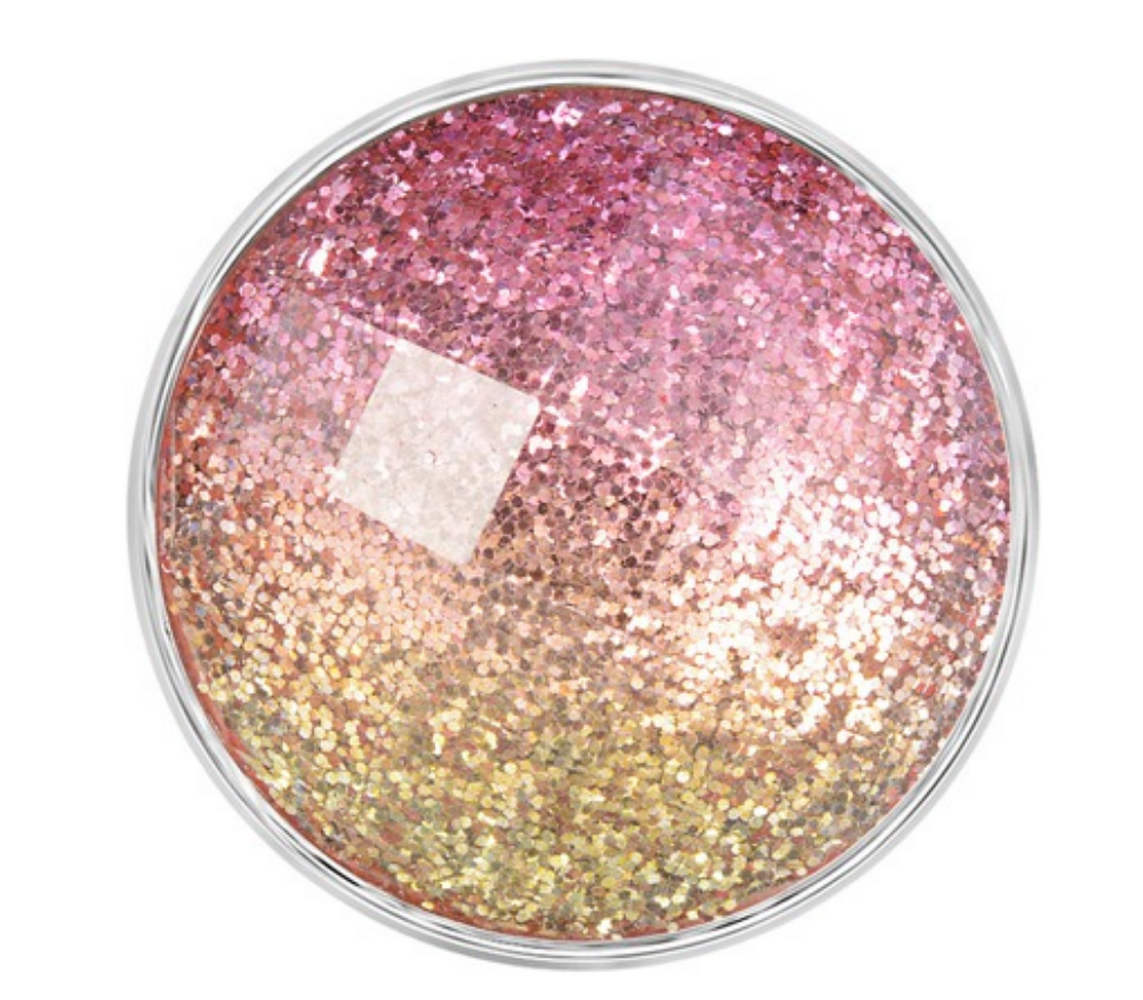 Snap Jewelry 18-20mm Glitter Shades of Pink