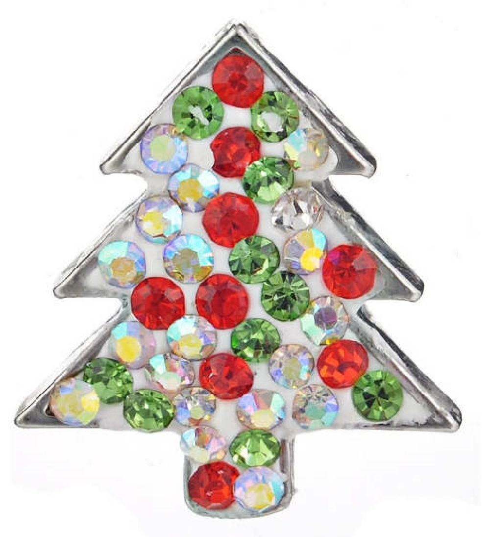 Snap Jewelry Crystal - Holiday Christmas Tree