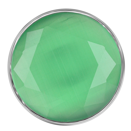 Snap Jewelry Stone Faceted Opal - Light Green