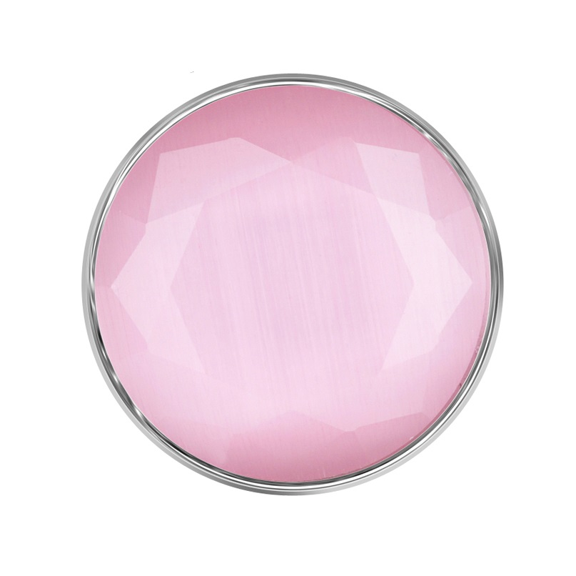 Snap Jewelry Stone Faceted Opal - Light Pink