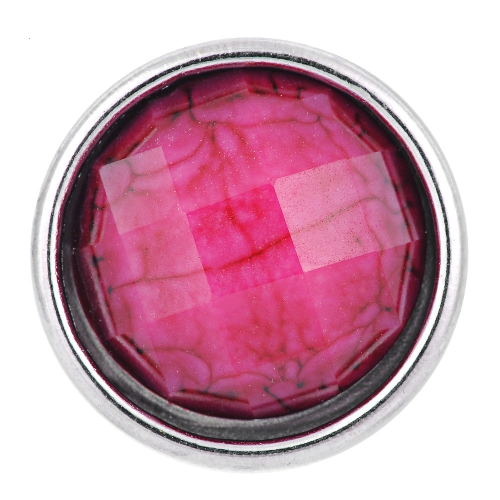 Mini 12mm Snap Stone Faceted Pink