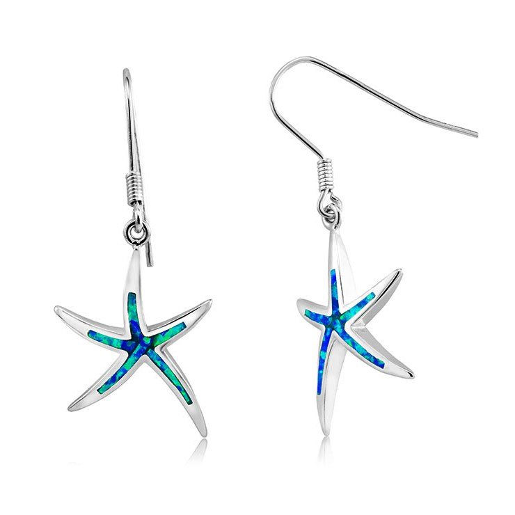 925 - Sterling - Starfish Opal Hookl Earrings