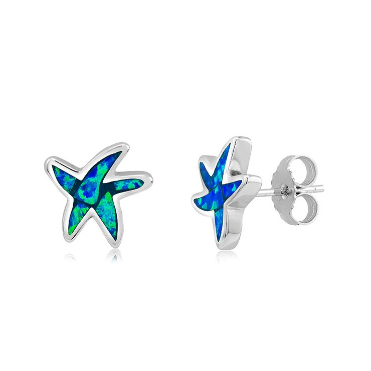 925 - Sterling - Starfish Opal Stud Earrings