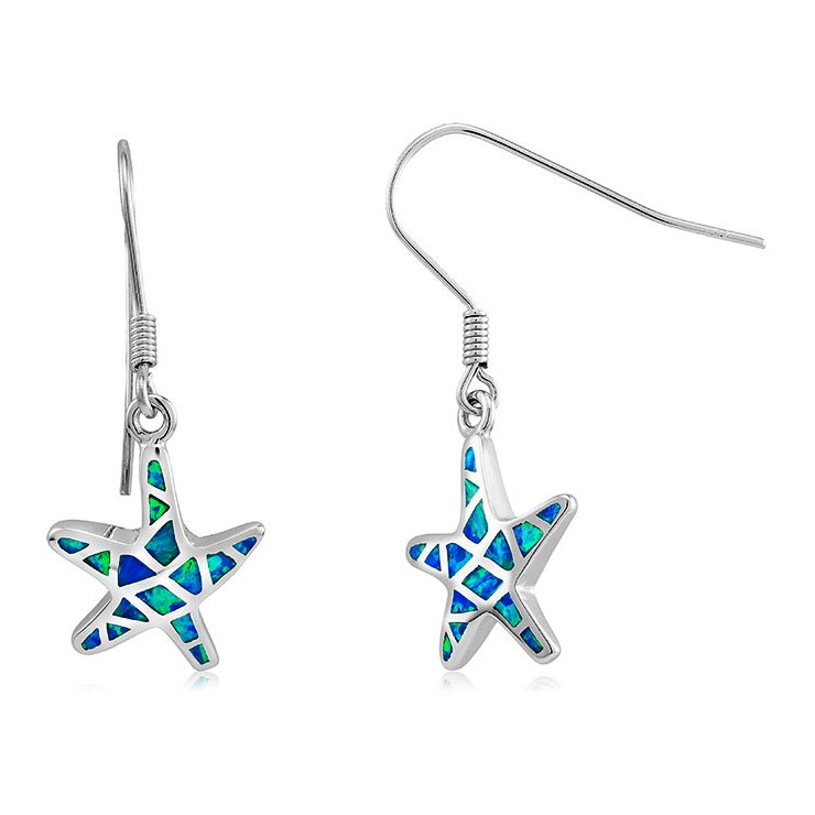 925 - Sterling - Starfish Opal Hook Small Earrings