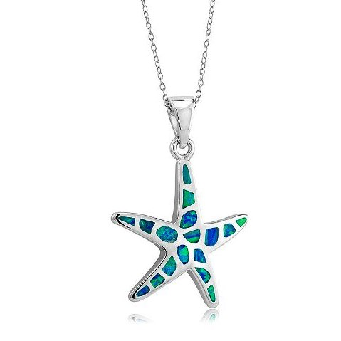 925 - Sterling - Starfish Opal Pendant