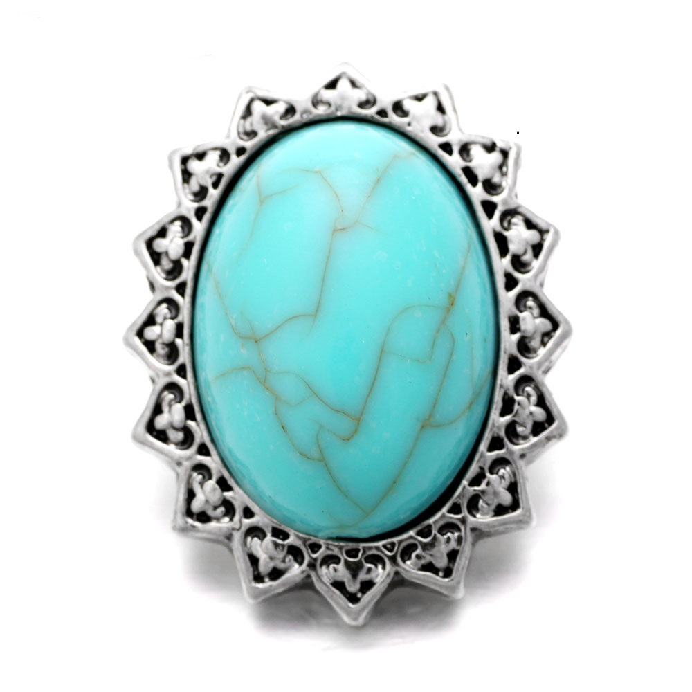 Snap Jewelry Gemstone - Turquoise Oval