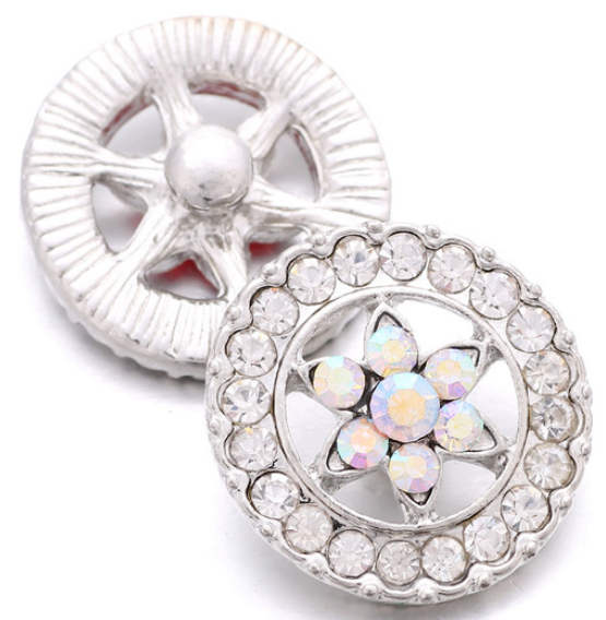 Snap Jewelry Rhinestone - Clear Halo & AB Star