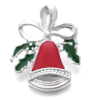 Snap Jewelry Enamel - Christmas Bells & Holly