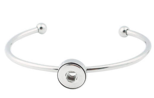 Mini 12mm Snap Jewelry Cuff Bangle Stainless Steel