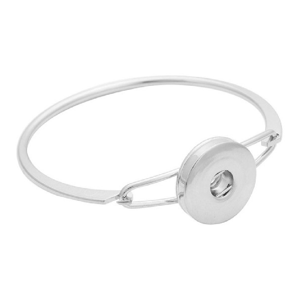 Snap Jewelry Hinge Bangle - Silver