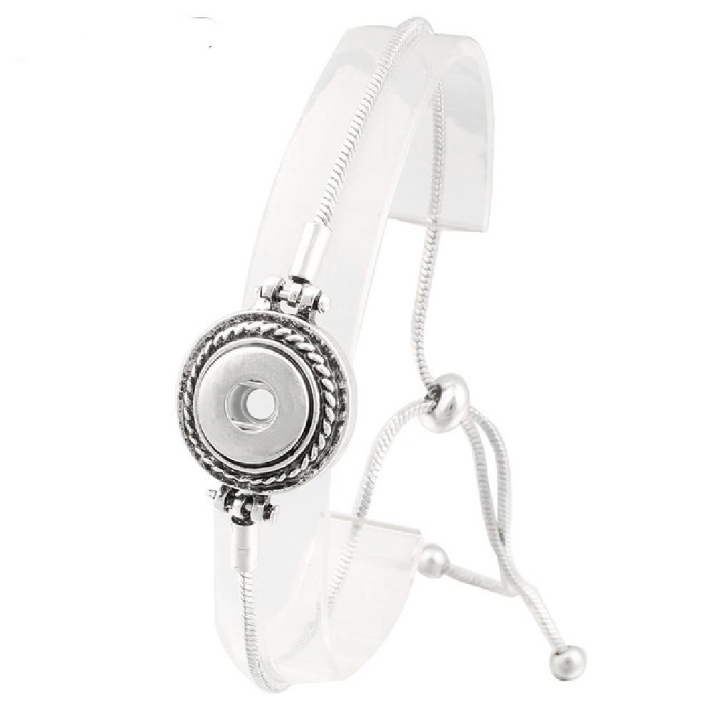 Mini 12mm Snap Jewelry Adjustable Slider Bracelet Designer