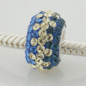 Charm 925 - 5 row - Crystal - Blue & Citrine Yellow