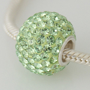 Charm 925 - 7 Row - Giant Crystals - Peridot Lime