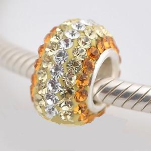 Charm 925 - 5 Row - Gold, Citrine & Clear Lines