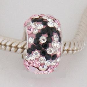 Charm 925 - 5 Row - Pink, Clear and Black