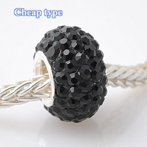 Fashion Core Crystal PandorCharm Black