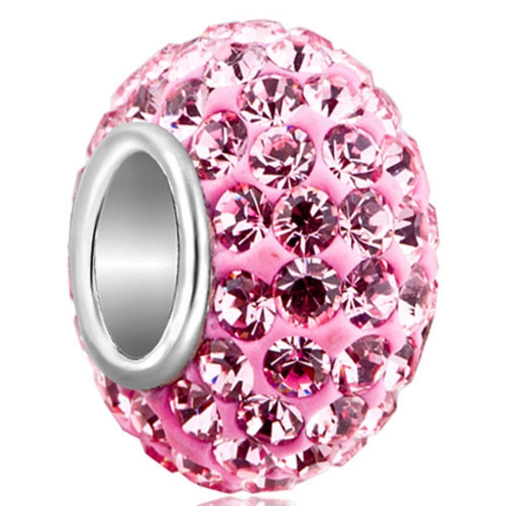 Fashion Core Crystal PandorCharm Medium Pink