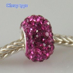 Fashion Core Crystal PandorCharm Fuchsia