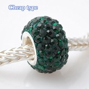 Fashion Core Crystal PandorCharm Emerald Green