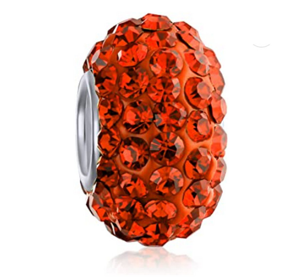 Fashion Core Crystal PandorCharm Orange