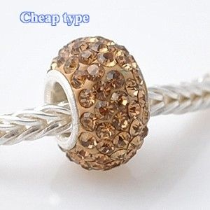 Fashion Core Crystal PandorCharm Beige Champagne