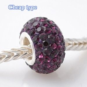 Fashion Core Crystal PandorCharm Purple