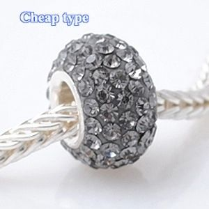 Fashion Core Crystal PandorCharm Gray