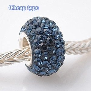 Fashion Core Crystal PandorCharm Dark Blue