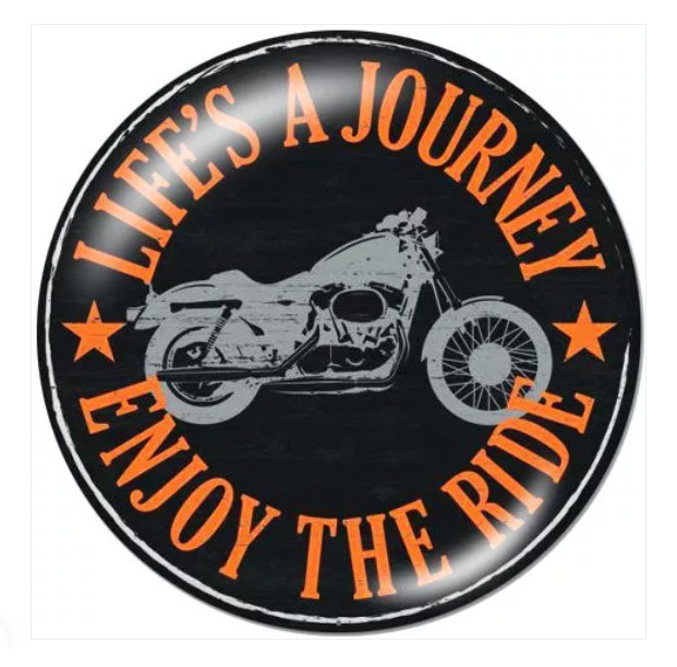 Snap Glass Jewelry Life is a Journey the Enjoy Rider Biker