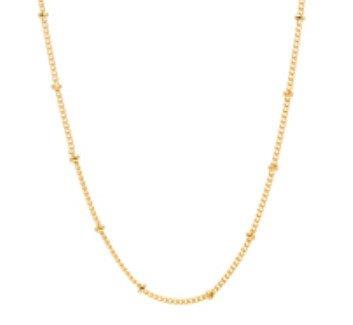 "Stainless Steel Ball Chain - Gold 18"" + ext"