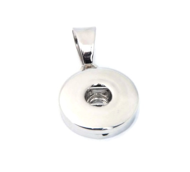 Snap Jewelry Pendant - Round Small