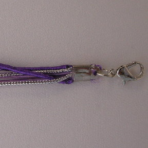 "18"" Three Tones Cord - Purple, Lavender & Silver"