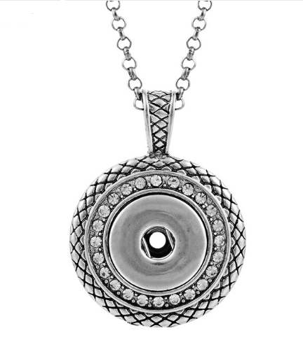 "Snap Designer Style Stainless Necklace & Pendant 19.5"" + 2.5"" Ex"