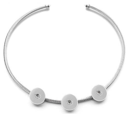 Snap Cable Omega Cuff Necklace Triple 20""