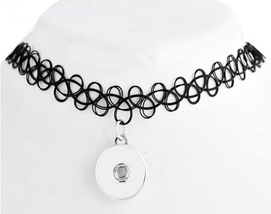 Snap Jewelry Choker Stretch Necklaces - Black