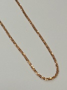 925 Sterling Silver Rock Chain - Rose Gold 16""