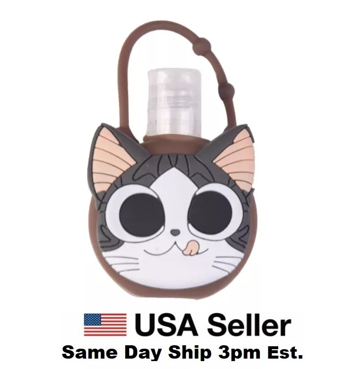 Silicone Bottle Holder for Mini 1oz Hand Sanitizer Cat Kitten