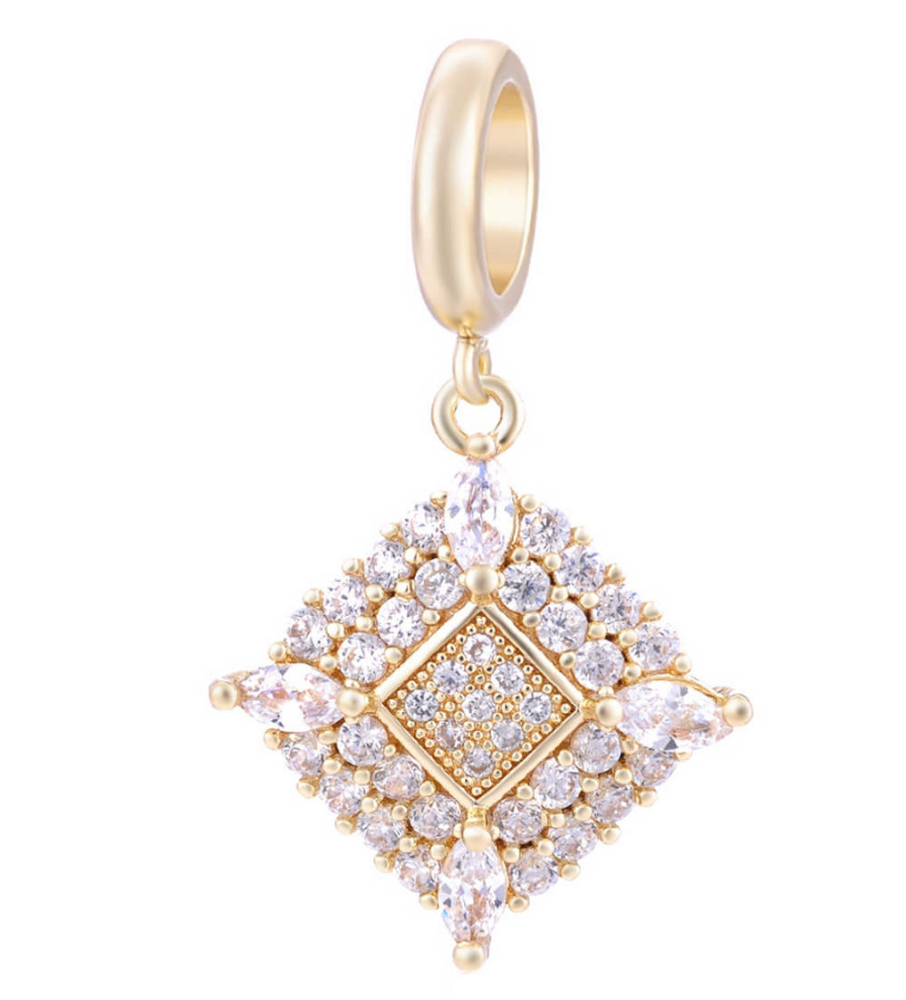 EndLess Charm Drop - CZ Marquise Corners Gold