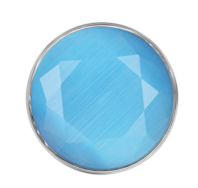 Snap Jewelry Stone Faceted Opal - Light Blue