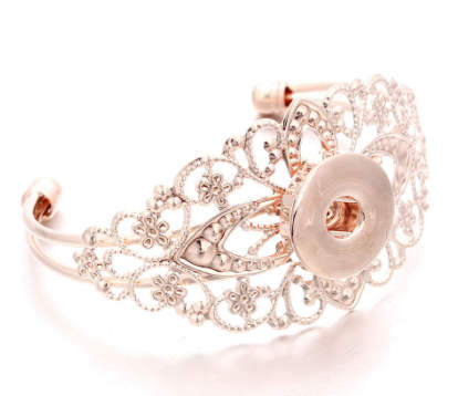 Snap Jewelry Bangle Wide Designer Rose Gold