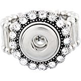 Mini 12mm Snap Jewelry Stretch Ring - Halo Clear
