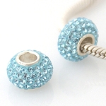 Charm 925 - 5 Row Crystals - Baby Blue